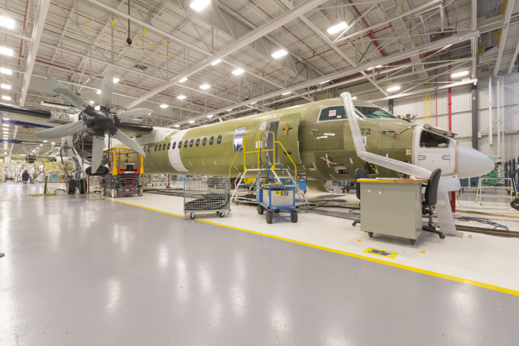 Nine out of 10 survey participants supported the idea of creating an environment that fosters more aerospace jobs. Bombardier Photo