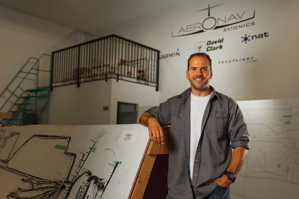 John Carinha is the founder and owner of Aeronav, and has always had a passion for the technical side of aircraft. Aside from running the company, he's one of Aeronav's technicians. Heath Moffatt Photo