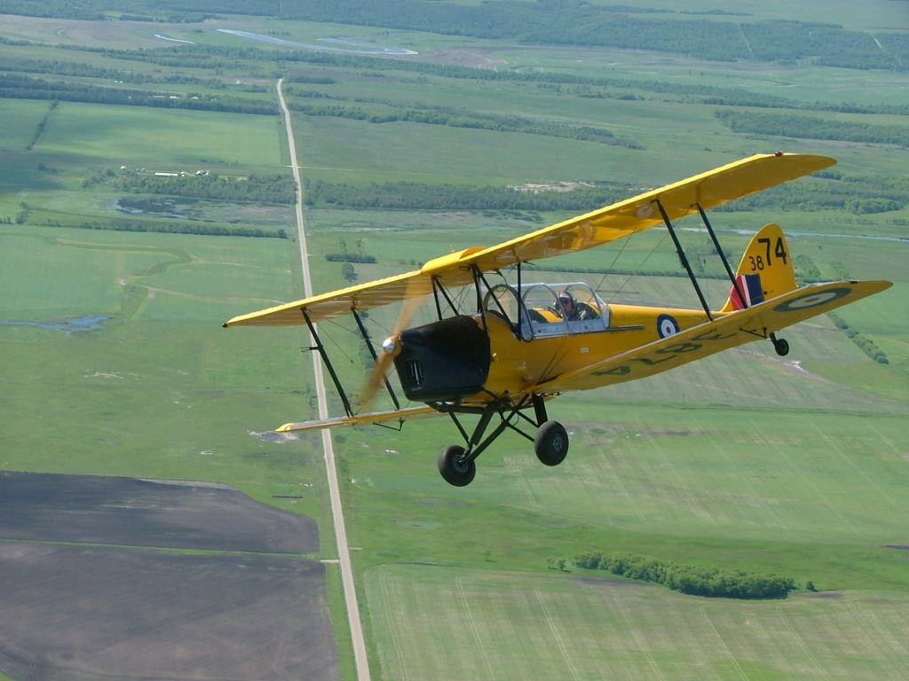 In 2004, pilot Bob Laidlaw flew a restored DH-82C Tiger Moth from California to Downsview, and presented the biplane as a donation to the Toronto Aerospace Museum. Ken Swartz Photo