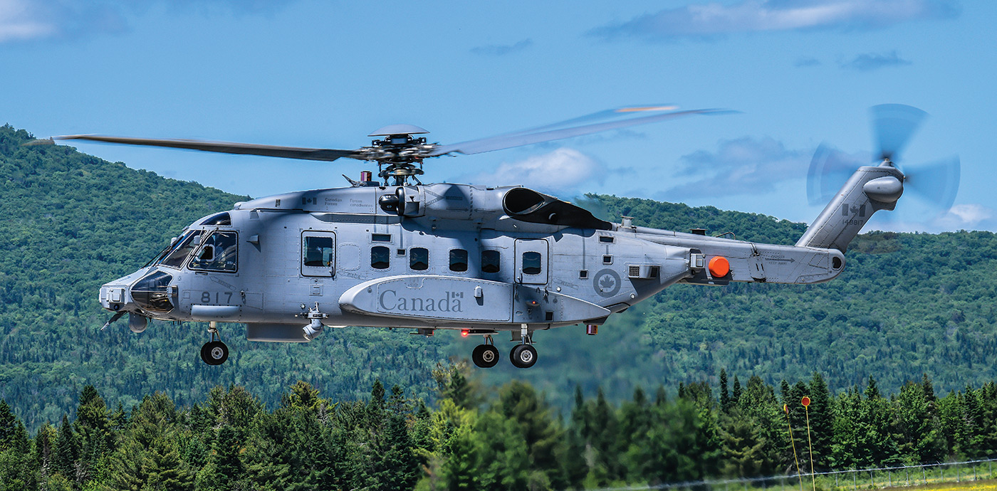 2018 marks the replacement of the Sea Kings with CH-148 Cyclones, which are being phased into service.