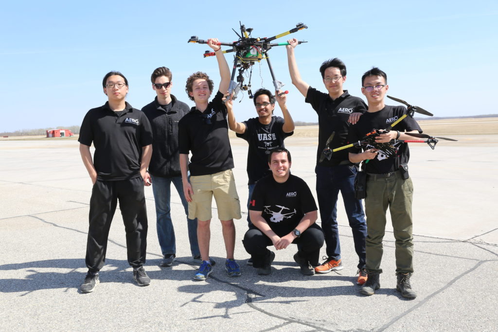Students from 16 universities across Canada will compete in the UAS competition to fix damaged solar panels in Québec's Lac Saint-Jean region. Unmanned Systems Canada Photo