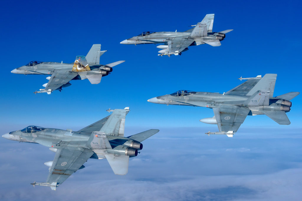 As the RCAF fighter squadron is currently on high readiness, 401 TFS is alternating NORAD Quick Reaction Alert duty with 409 TFS and training to conduct operations around the world. Mike Reyno Photo