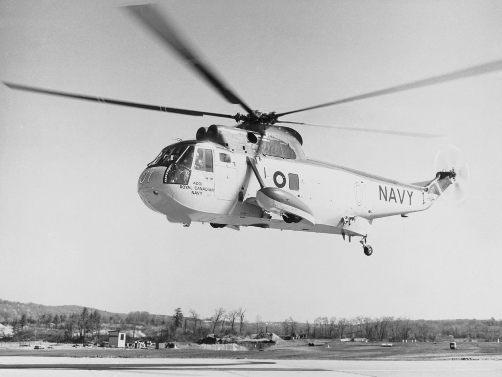 The 55-plus years of the reign of the Sea King in Canadian maritime aviation began with this helicopter on May 24, 1963. DND Archives Photo