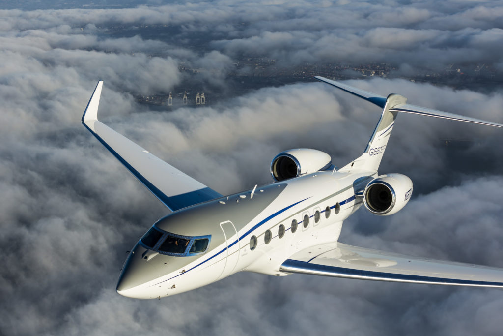 The G650ER, along with several other Gulfstream aircraft, has been provided FAA approval for touchdown and rollout using an EFVS. Gulfstream Photo