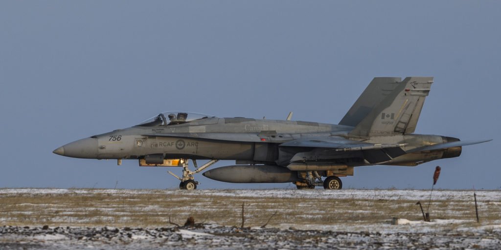 To help mitigate maintenance concerns with the 35-year-old Hornets, the ATF deployed with five CF-188s instead of four. Cpl Dominic Duchesne-Beaulieu Photo