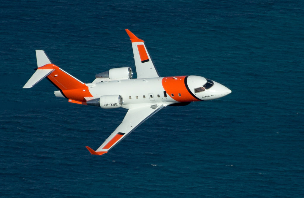 ViDAR is being employed by the Australian Maritime Safety Authority's Bombardier Challenger 604 jets in a search and rescue capacity. Sentient Vision Photo