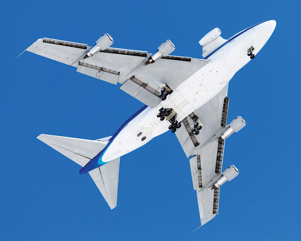 P&WC's two Boeing 747SP aircraft fly approximately 250 hours each per year. They should be able to perform their duties for another 20 years. P&WC Photo