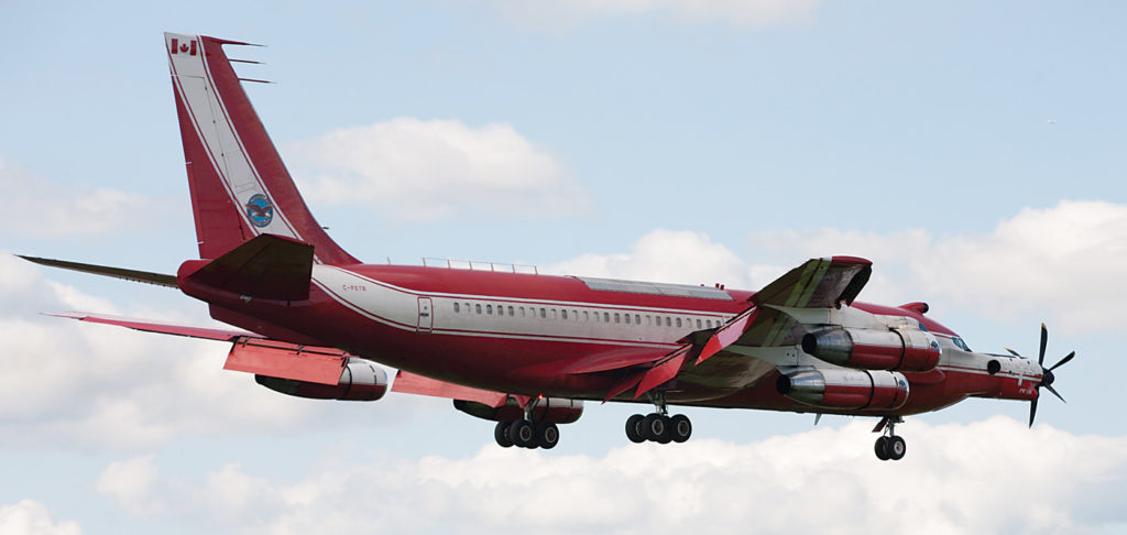 In 1986, P&WC took delivery of a Boeing 720B quad-jet (and later another of the same type) for use as a flying test bed. In 2012, the engine manufacturer indefinitely loaned C-FETB to the National Air Force Museum of Canada in Trenton, Ont. Its flight into Trenton was also the world's last flight of a 720B. Jean-Charles Hubert Photo
