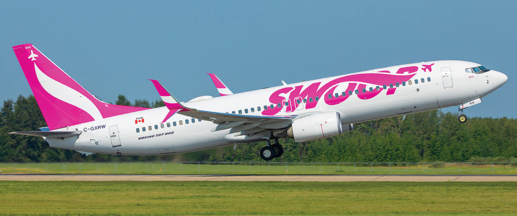Swoop celebrated its one-millionth traveller, on a flight from Edmonton to Hamilton, earlier this week. Karl Ranta Photo