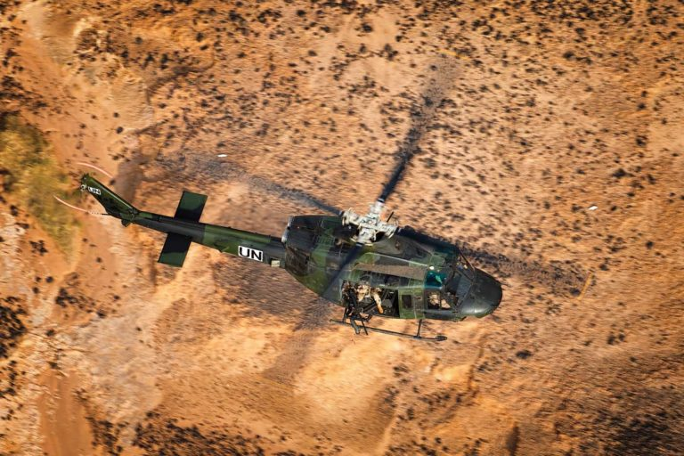 On Jan. 20, 2019, three CH-146 Griffon and two CH-147F Chinook helicopters launched from Gao to Aguelhok, Mali, around 270 miles (430 km) away, in response to an attack on UN peacekeepers. The helicopters evacuated 15 wounded soldiers and delivered water, food, and ammunition to peacekeepers who remained in Aguelhok. Lloyd Horgan Photo