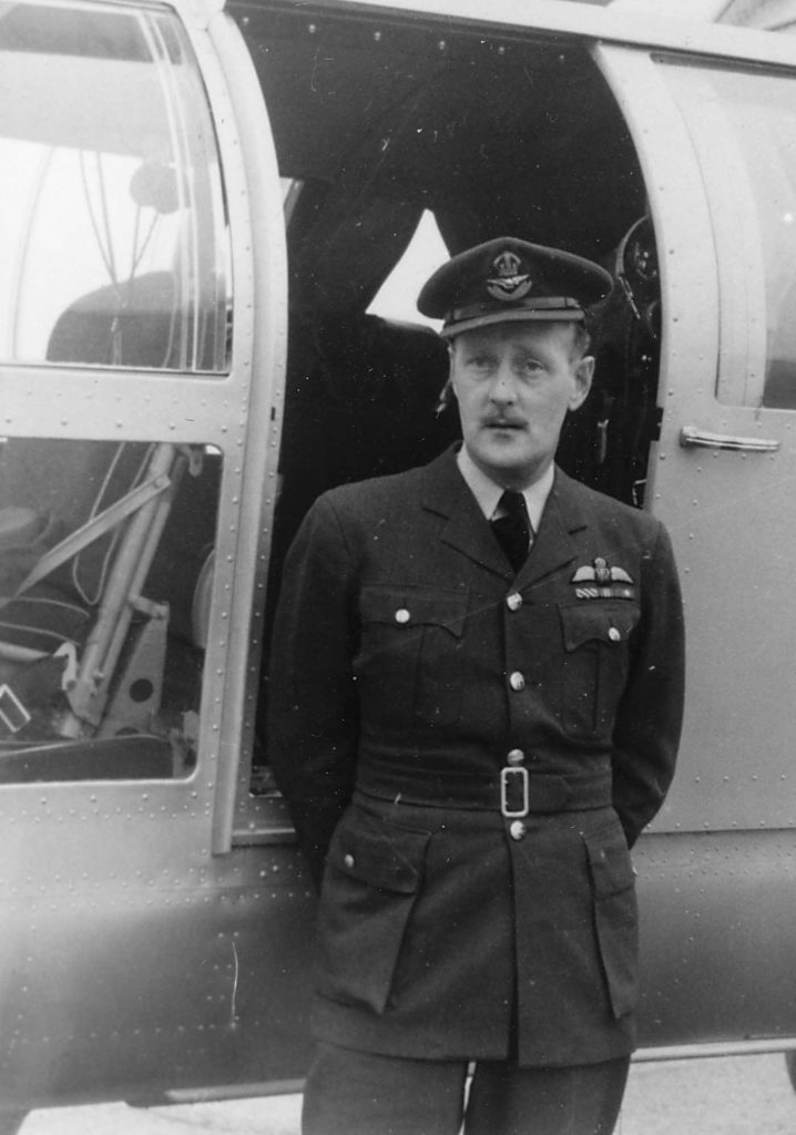 Flying Officer Tom Wallnutt at Trenton, Ont., in 1947. He was the first RCAF pilot trained on rotary-wing aircraft.