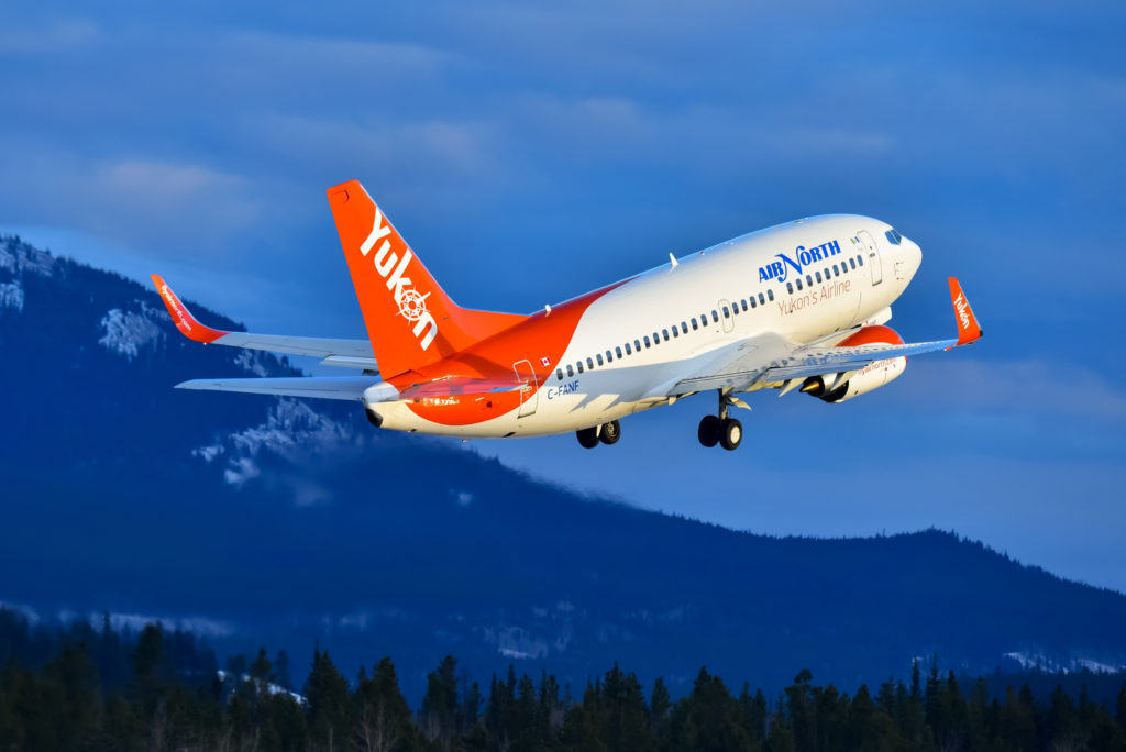 Air North now operates a fleet of five jets: four Boeing 737-500s and one 737-400. Simon Blakesley Photo