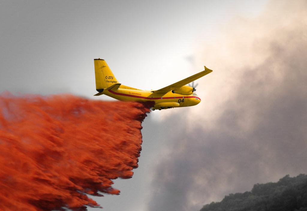 Leonarrdo C-27J firefighting aircraft