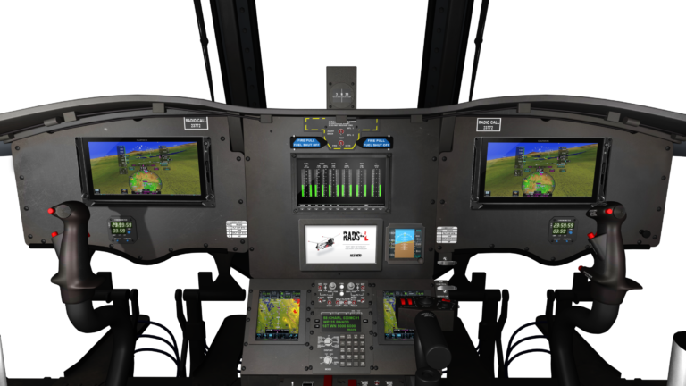 Shown is the EFIS cockpit to be installed in the CU-47, which features the Garmin G500H TXi synthetic vision displays, Garmin's dual GTN 750 touch screens with ADS-B, and Howell Instruments' digital engine display system. Coulson Aviation Image