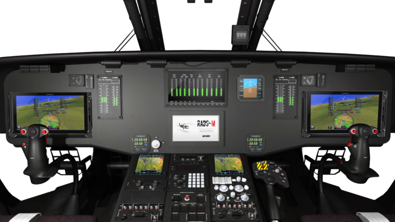 Pictured is the EFIS cockpit to be installed in the CU-60. The upgraded cockpit will match the CU-47, featuring the Garmin G500H TXi synthetic vision displays, Garmin's dual GTN 750 touch screens with ADS-B, and Howell Instruments' digital engine display system. Coulson Aviation Image