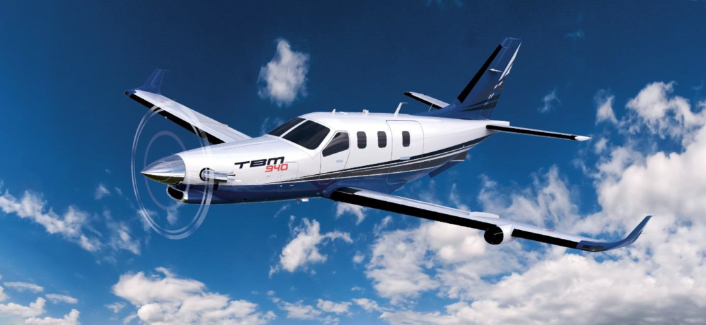 Daher's TBM 940 was unveiled in March 2019. The aircraft offers auto throttle - the first to be installed on a standard production turboprop weighing less than 12,500 pounds. Daher Image