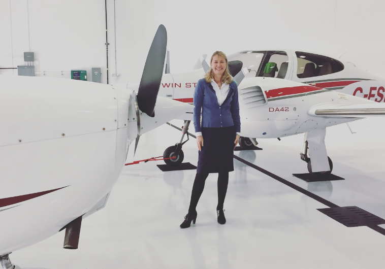 Cathy Press, CEO and owner of Chinook Helicopters, learned to fly at a young age and has been hooked on aviation ever since. Chinook Helicopters Photo