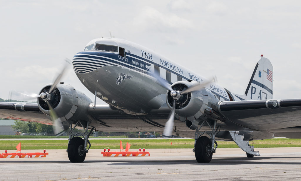 The first U.S. aircraft to arrive, the