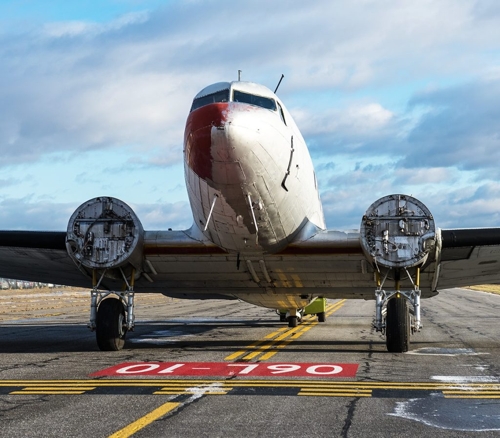 The before: McBryan and his team had quite a bit of work to do on the DC-3 before it would be operational for the D-Day commemoration on June 6. Pierre Gillard Photo