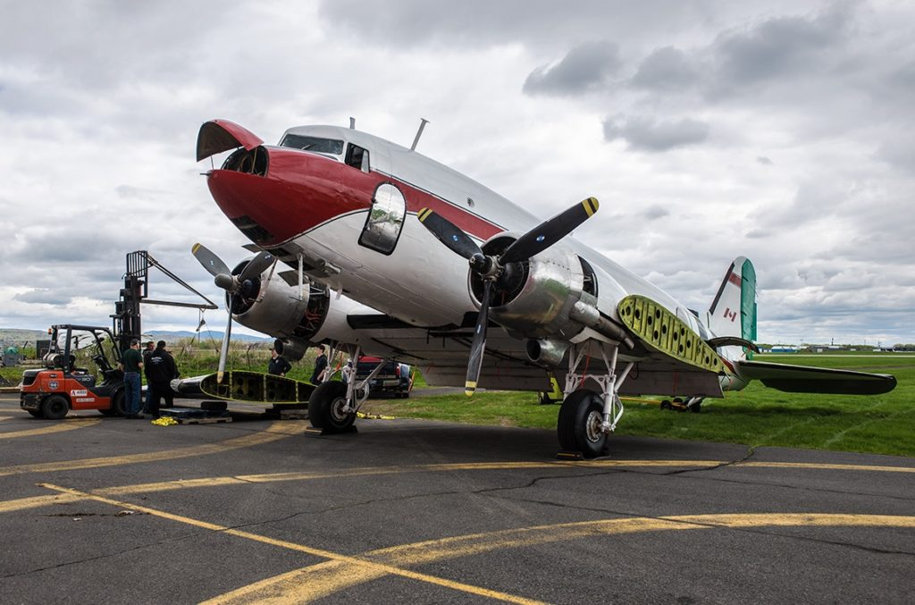 The Plane Savers team had to source parts from other retired DC-3 aircraft to get its aircraft off the ground. Pierre Gillard Photo