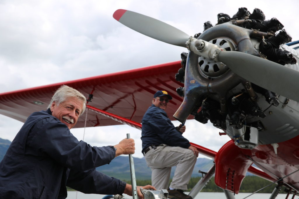 Warren Wright, pictured here in front of his refurbished Bellanca, founded North Wright Airways in 1986 and has been Norman Wells' resident aviation expert ever since. North Wright Airways Photo