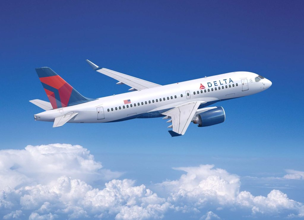 Delta was the U.S. launch customer for the A220, placing an initial order for 75 aircraft in 2016 and booking an additional 15 in December 2018. Airbus Image.