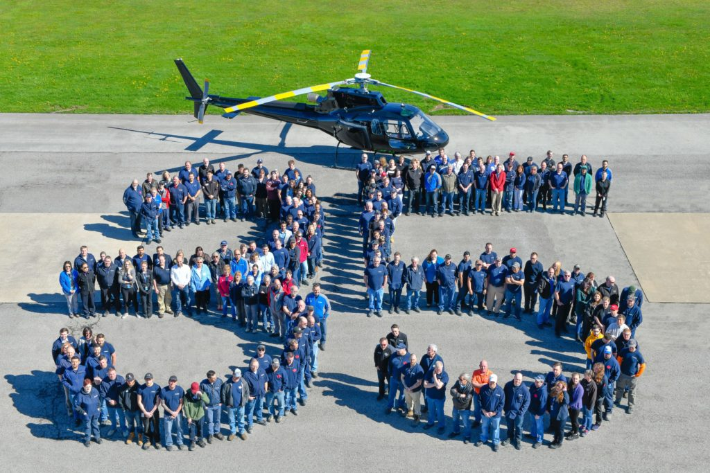 Airbus Helicopters Canada is celebrating 35 years of providing customer service and technology to the Canadian helicopter industry. Airbus Helictopters/Rob Reyno Photo