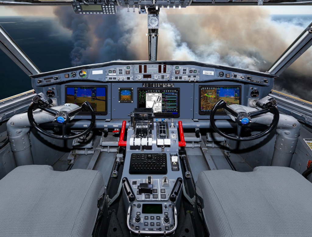 The proposed layout of the Collins aerospace pro line fusion integrated avionics suite to be featured in the Viking avionics upgrade program. Viking Air Photo