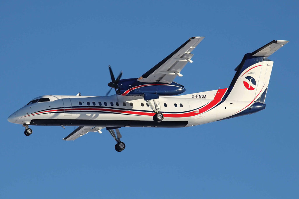Sunwest's turboprop fleet accounts for roughly 50 per cent of its operations. The aircraft are used mainly for workforce charter flights and corporate shuttle missions to oil and gas production facilities and other worksites. Janos Englert Photo