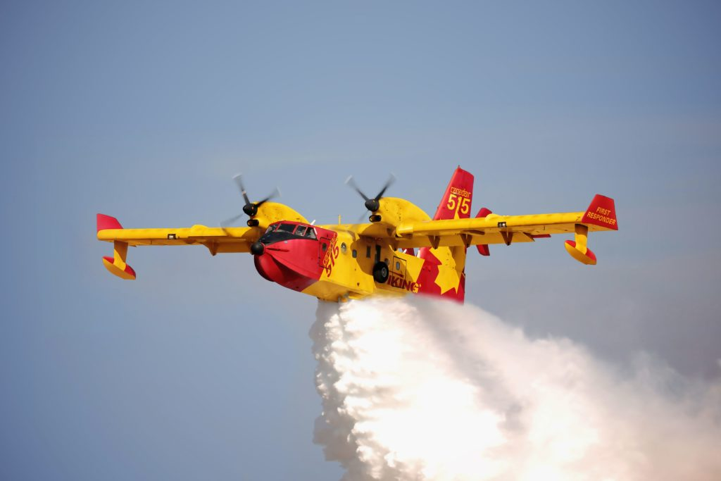 The new CL-515 is a state-of-the-art amphibious aircraft with enhanced firefighting capabilities, according to Longview. Longview Aviation Photo