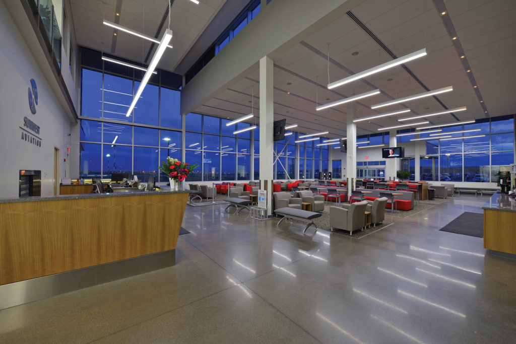In 2013, Sunwest moved to its present location in the northwest quadrant of the Calgary International Airport. According to business development director Ian Darnley, the complex is the largest purpose-built business aviation facility in Canada. Kristian Bogner Photo