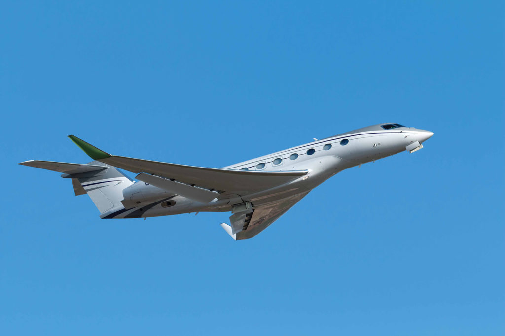 The addition of a Gulfstream 650ER has extended the reach of Sunwest Aviation's aircraft charter business. Here, it takes off from Verona Villafranca Airport in Italy. Monica De Guidi Photo
