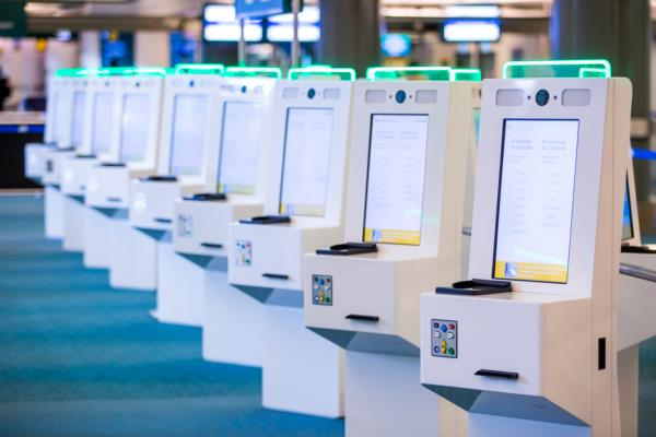 The kiosks are part of a six-month pilot to simulate the impending entry/exit system of the Schengen Area. YVR Photo