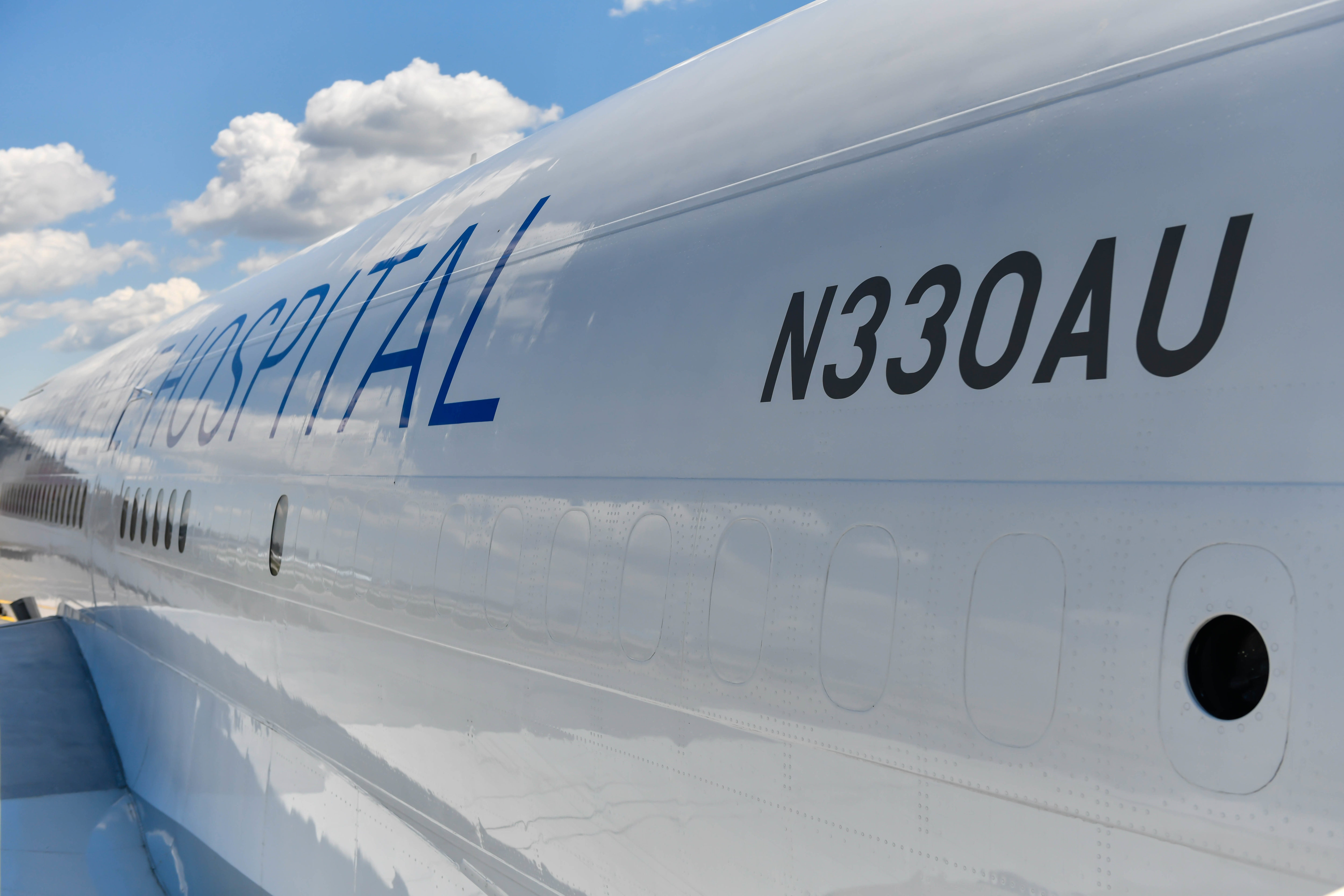 The last two letters in the jet's registration is a tribute to FlightSafety International founder A.L.