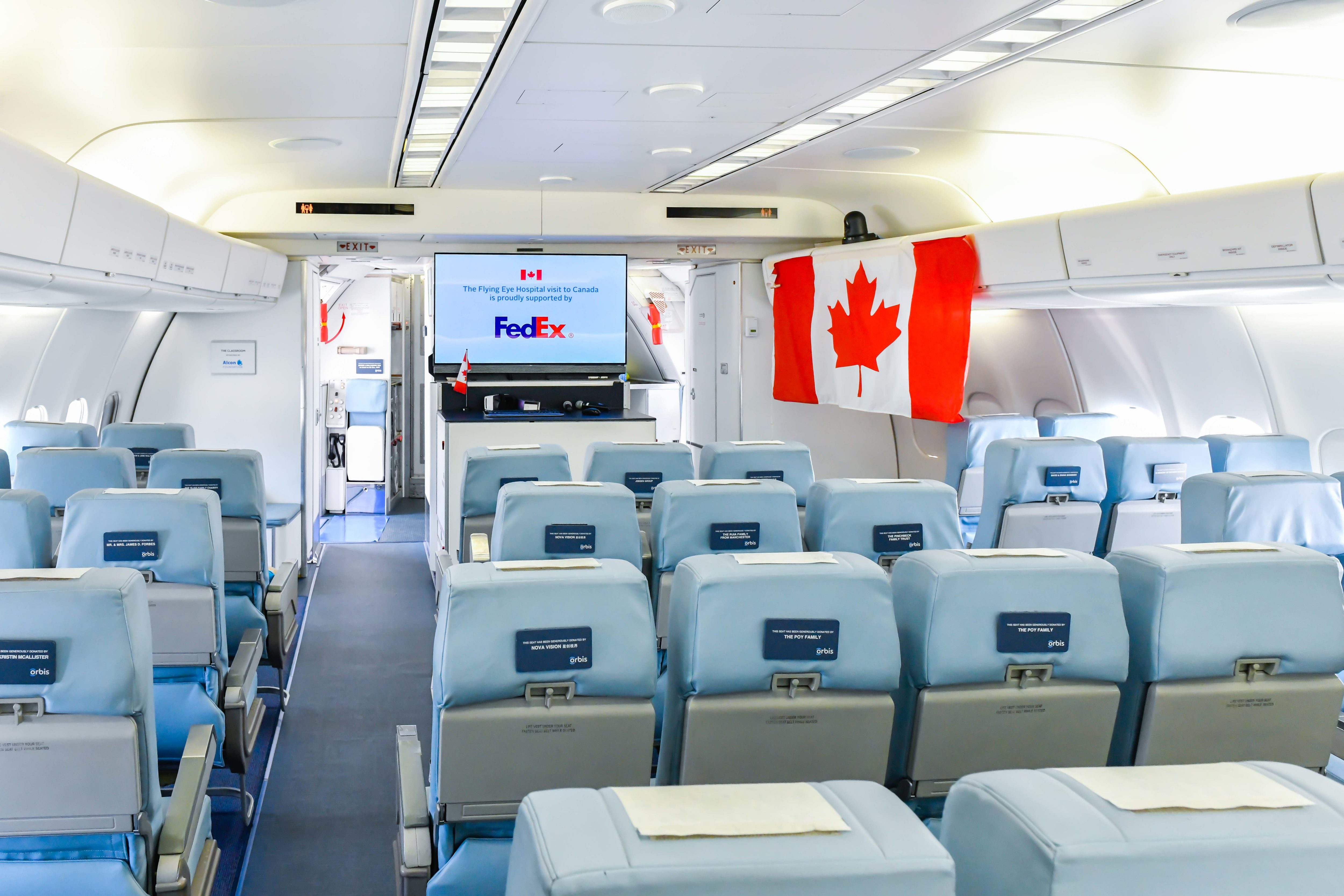 The Hospital's classroom, seen here, can seat 46, and is used for training purposes as well as viewing ongoing surgeries on-board. Rob Reyno Photo