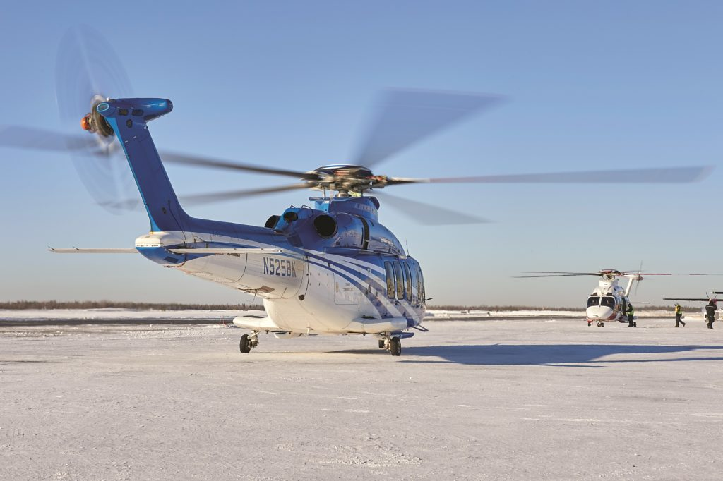 If they have the necessary facilities, northern airports can attract OEMs who want to do cold weather testing. In an early 2019, the Bell 525 Relentless completed its evaluation in Yellowknife. Stephen Fochuk Photo