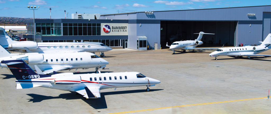 The ramp at Sunwest will be full this summer, when the company hosts the Canadian Business Aviation Association show from July 9 to 11. Rod Hiebert Photo