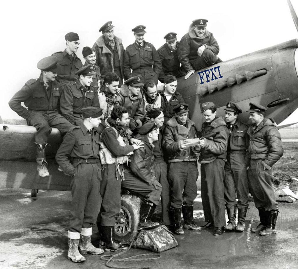 Several members of 430 Squadron were awarded the Distinguished Flying Cross for their efforts on D-Day and across the Second World War. RCAF Photo