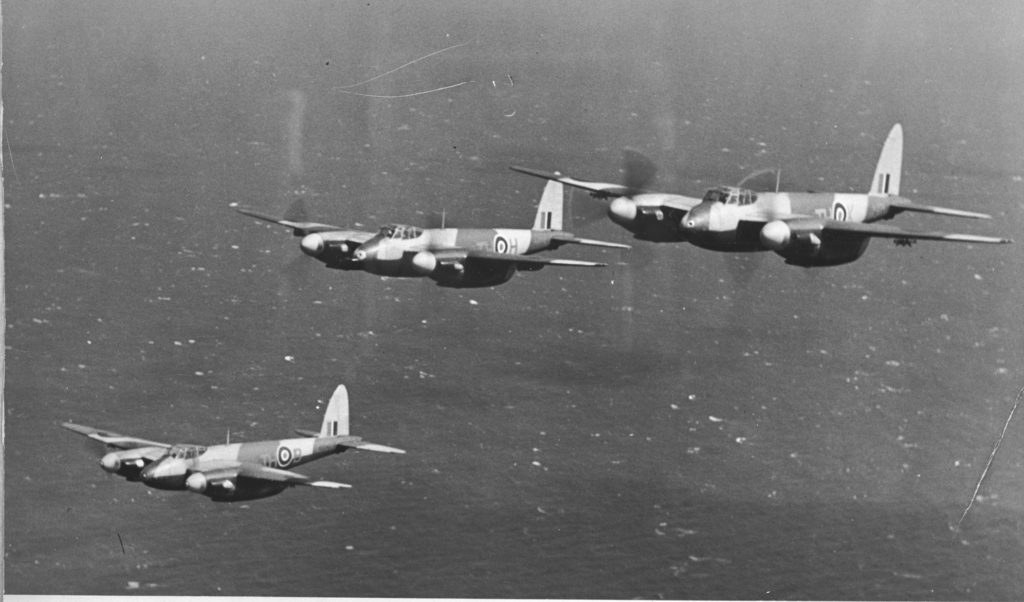 DH 98 Mosquito aircraft of 418 Squadron, who played an instrumental role in the Allied invasion of France. RCAF Photo