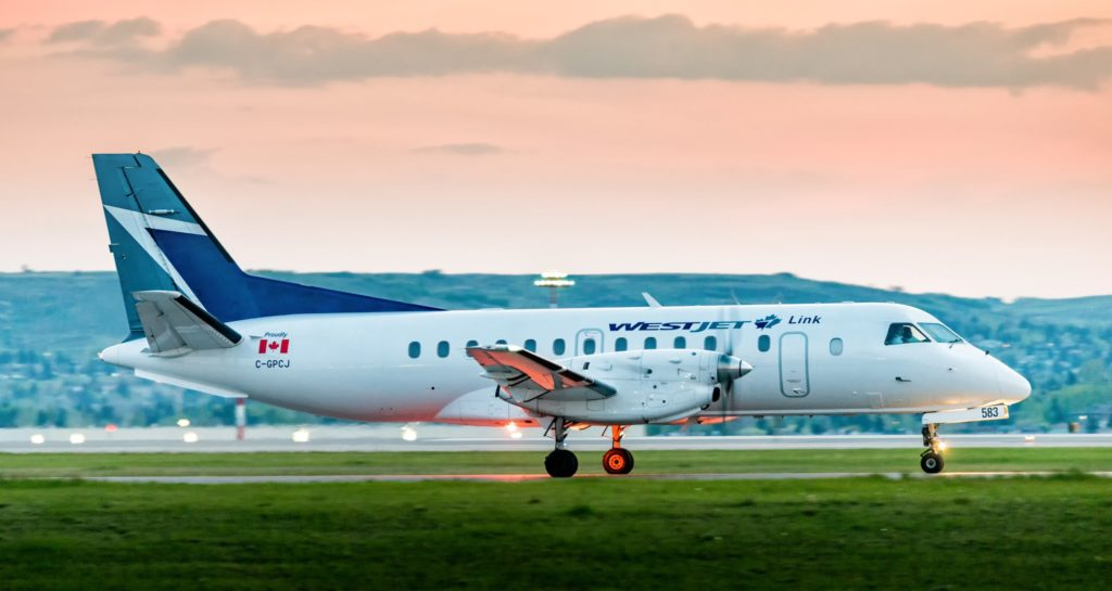 WestJet Link has operated over 7,000 flights between Calgary and the West since its inception in June 2018. WestJet Link Photo