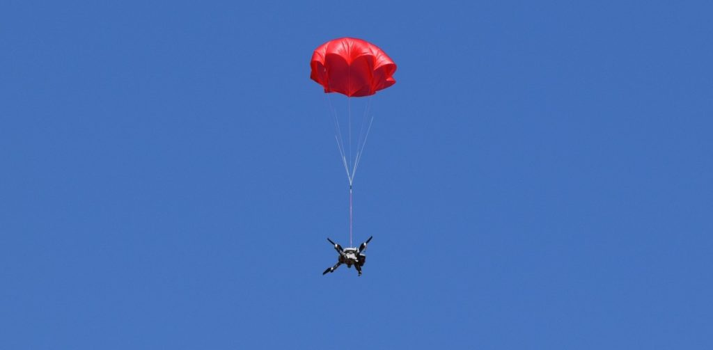 To date, ParaZero's SafeAir Systems are the first and only ASTM compliant parachute systems that are in use in the United States under Federal Aviation Authority waivers for operations over people. ParaZero Photo