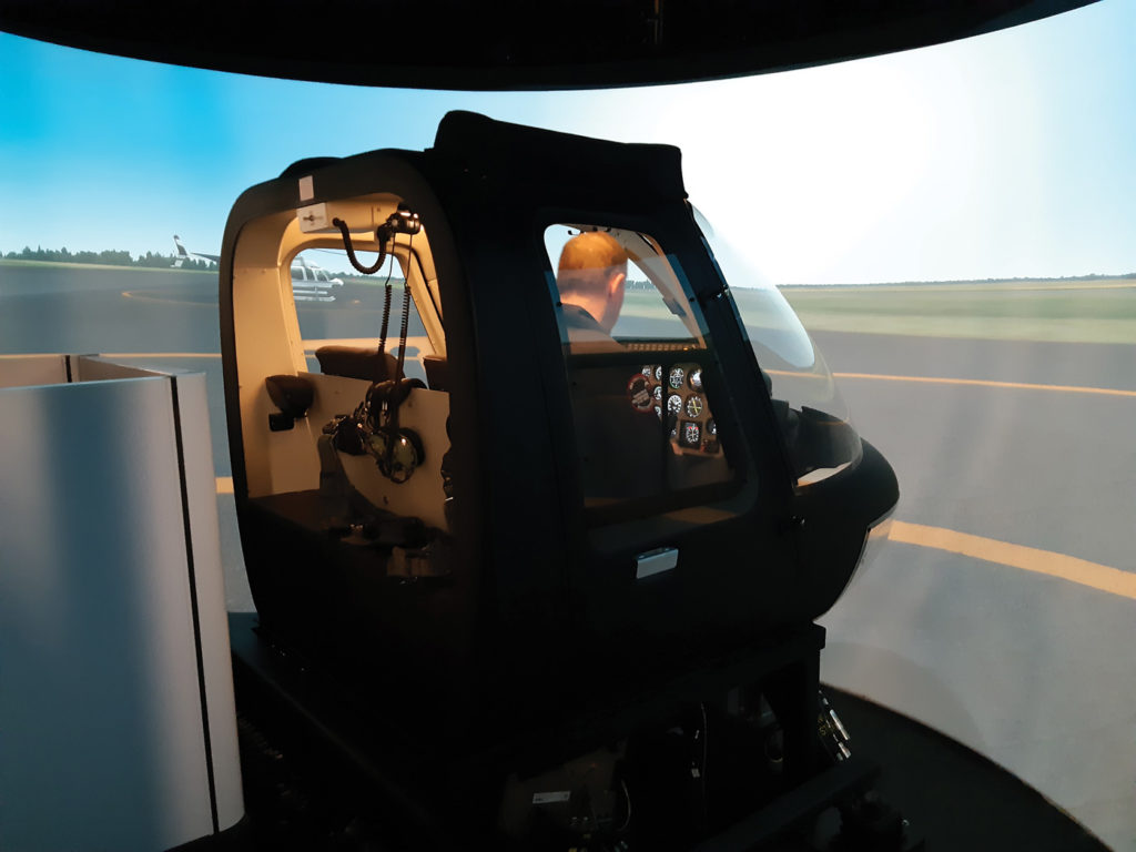 The new advanced Bell 206 flight training simulators at 3 CFFTS. Chris Thatcher Photo