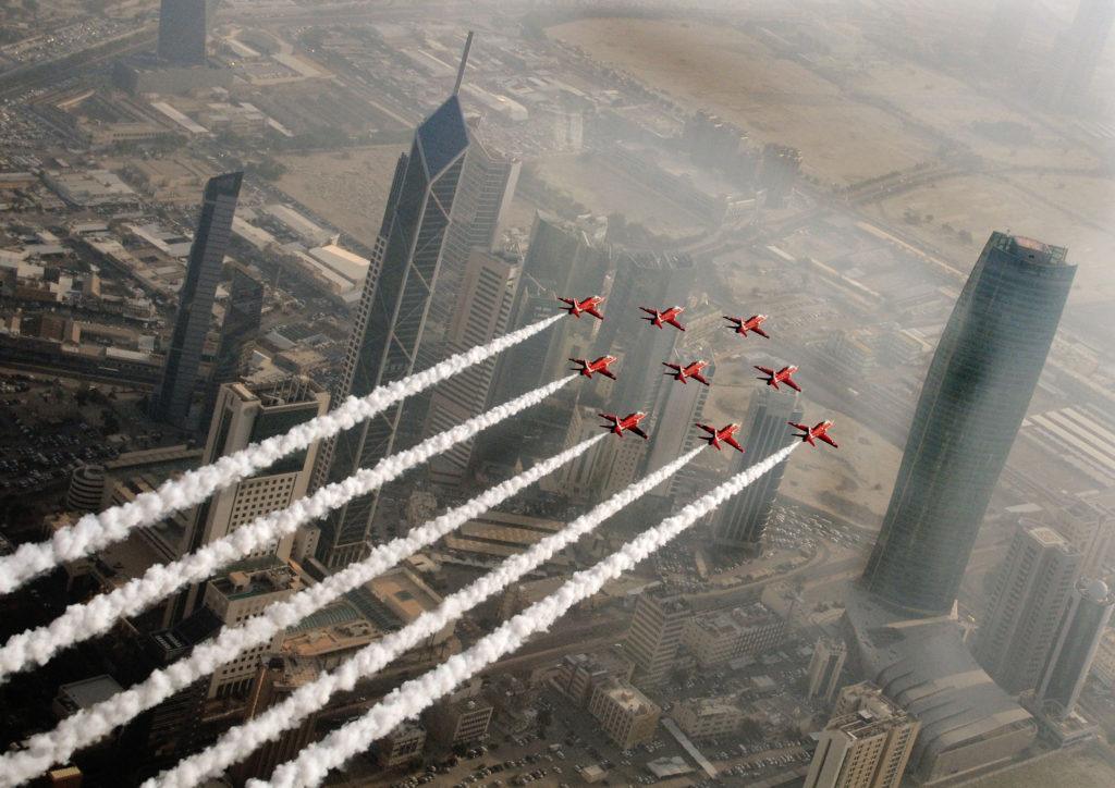 It is the first time the Red Arrows have been to Canada and the U.S. since 2008, with the deployment of the most ambitious tour of North America ever undertaken by the team. RAF Photo