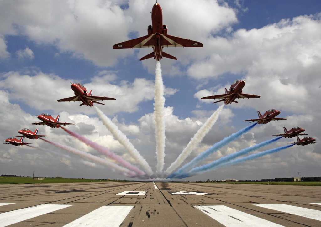 Aviation fans in Halifax, Ottawa-Gatineau, Toronto, Niagara Falls, Vancouver and Victoria will have a unique opportunity to see the Red Arrows take flight during the team's 11-week deployment. RAF Photo