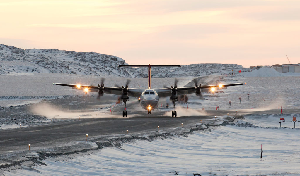 Yellowknife, N.W.T.-based Air Tindi operates four Dash 7 aircraft. A combi configuration with movable bulkhead allows the company to transport several variations of passengers and cargo. Jason Pineau Photo