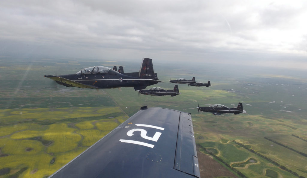 At 17,600 hours per year, no air force flies the CT-156 Harvard more than Canadian pilot candidates. DND Photo