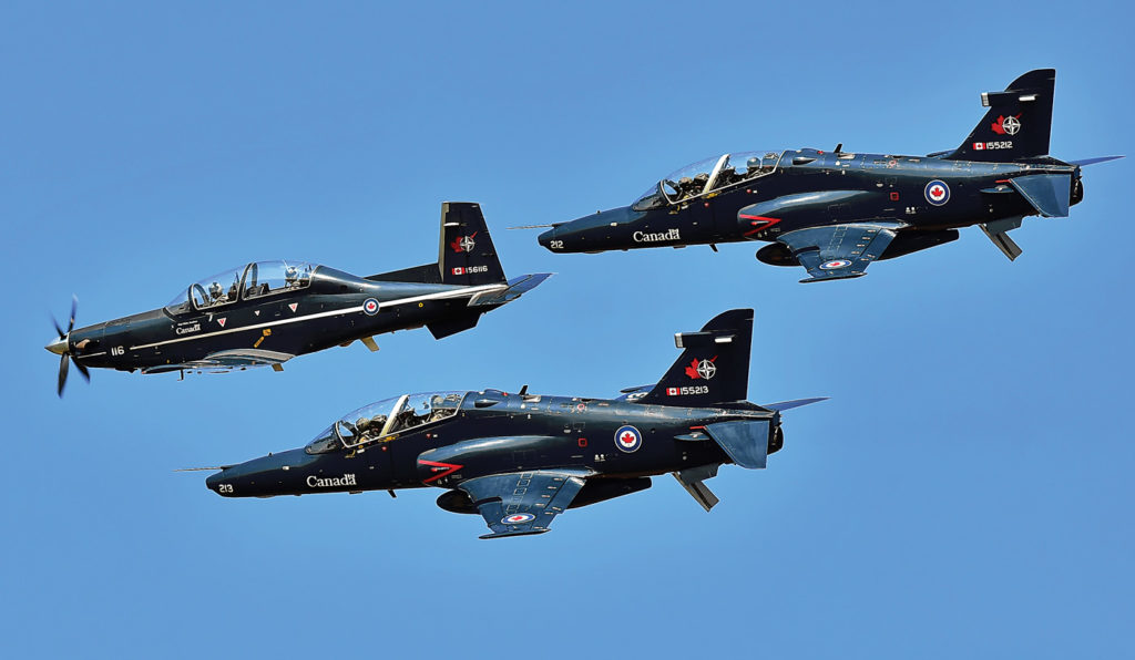The RCAF has 22 CT-156 Harvards and 17 CT-155 Hawks, but potential project bidders have been told not to assume access to any of the current training fleets. Dave Mills Photo
