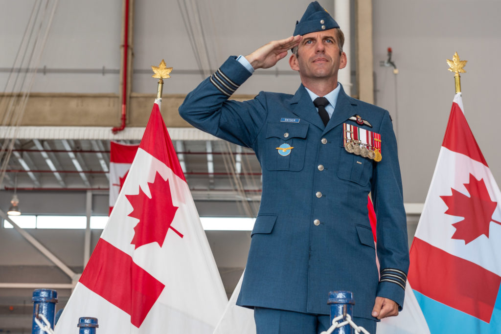 Snyder has served at 429 Transport Squadron as well as 426 Transport Training Squadron as both navigator instructor and office commanding air mobility system support flight. He completed tours on Op Apollo, Op Athena and Op Hestia. RCAF Photo
