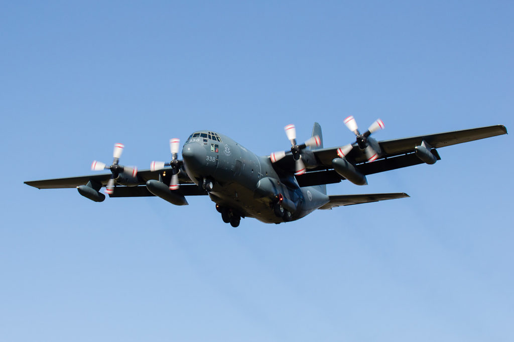 The CC-130T H-model Hercules provides both air-to-air refueling for NORAD fighter jets and search and rescue capability to the Arctic. Galen Burrows Photo