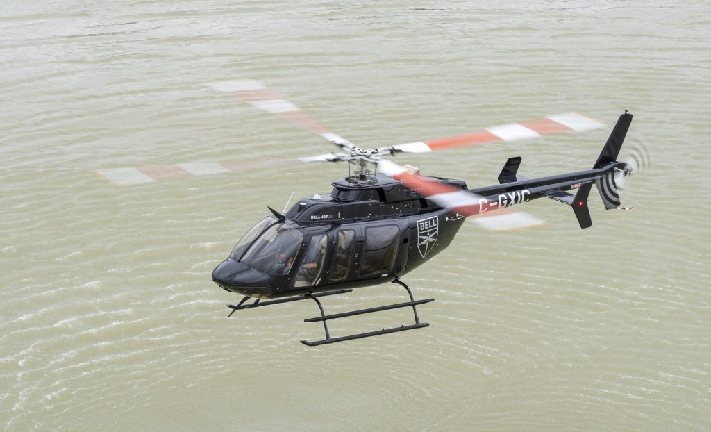 The Bell 407GXi's new IFR capability will allow all-weather operations while continuing to provide multi-mission capability safely, reliably, and effectively. Bell Helicopters Photo